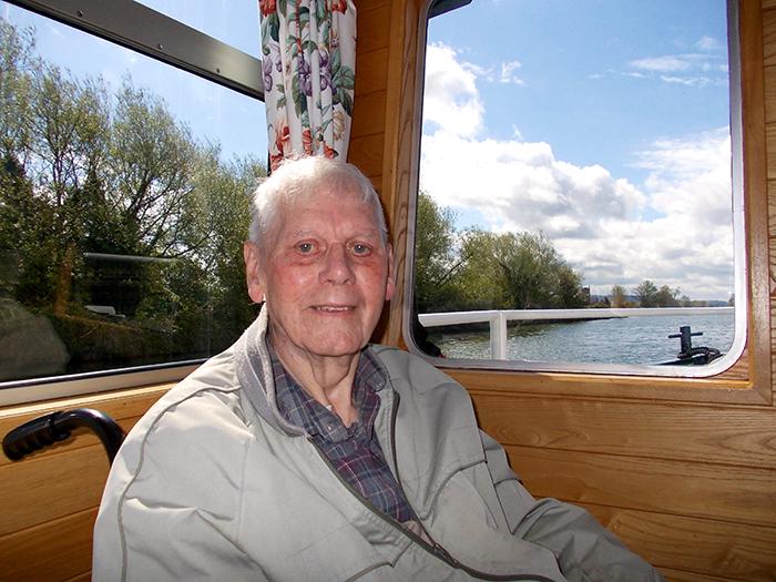 Grandpa on boat